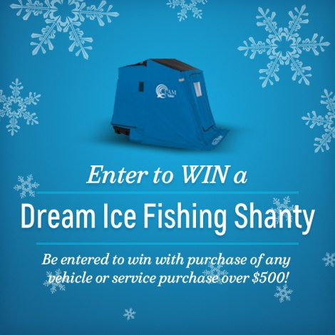 Win Ice Fishing Shanty Pin Image