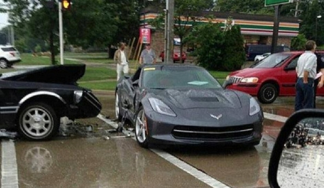 Recently Crashed 2014 Chevy Corvette Stingray to be Examined by GM