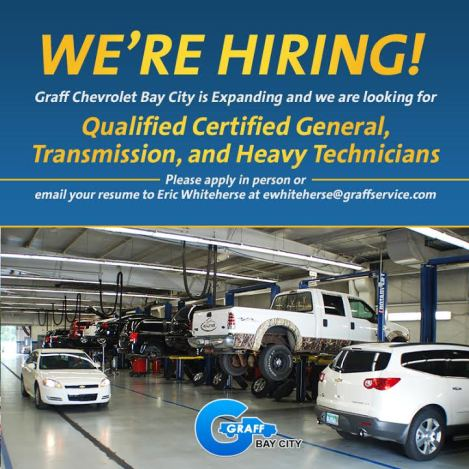 Graff Bay City is Hiring Certified Technicians