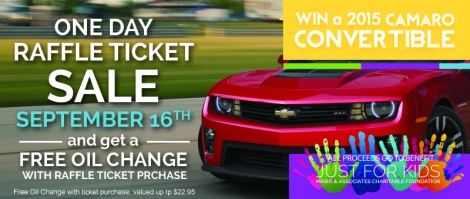 Win A Camaro Raffle Ticket Sale